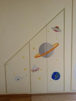 Dettaglio - Decorazioen armadio a muro camera di bambino