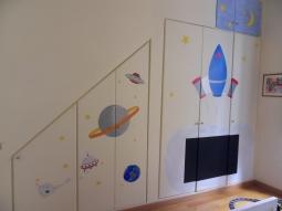 Decorazioen armadio a muro camera di bambino