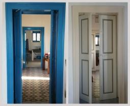 Porte interno Ginostra - prima e dopo
