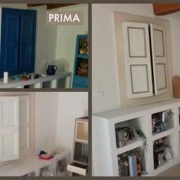 interno cucina Ginostra - prima e dopo