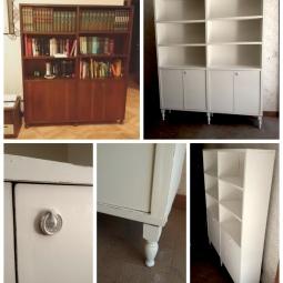 Libreria decapata - prima e dopo