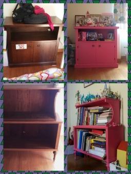 Mobili rosa Peppa - Prima e dopo