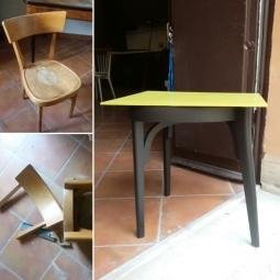 Trasformazione: da sedia a tavolino