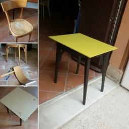 Trasformazione: da una sedia un tavolino