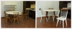 Trasforamzione di un set di tavoli e sedie danesi
