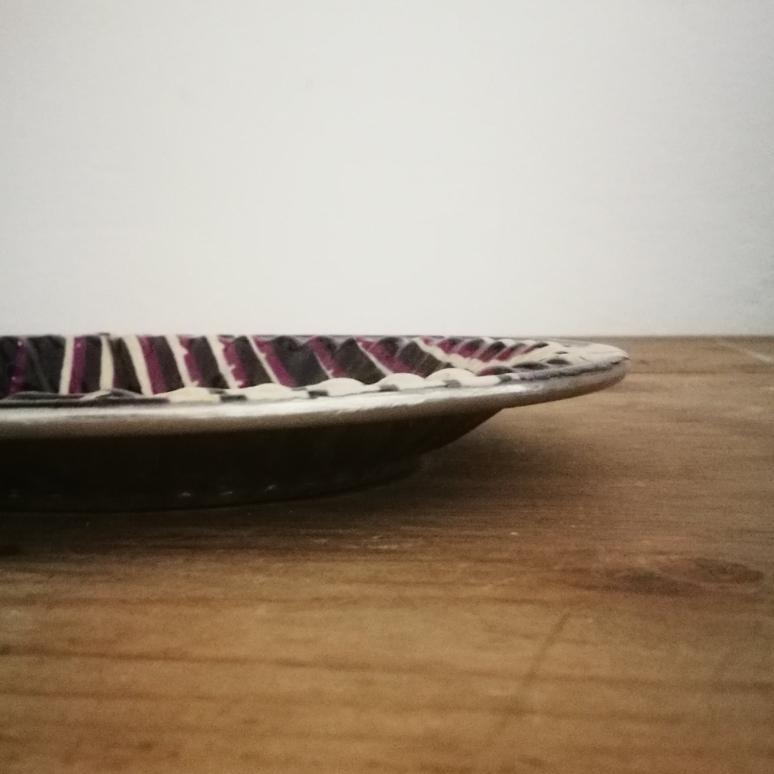 vassoio silver + tessuto wax = vassoio wax
