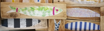 Pesci decorativi in legno